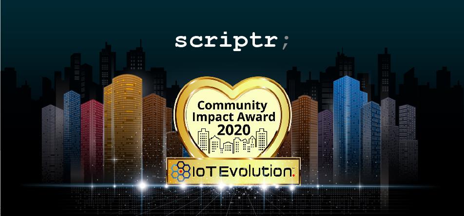 Scriptr.io Receives 2020 IoT Evolution Community Impact Award